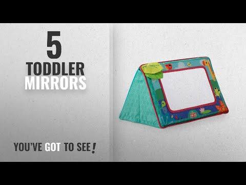 Top 10 Toddler Mirrors [2018]: Bright Starts Sit and See Safari Floor Mirror