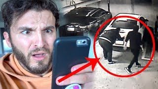 COUPLE CAUGHT STEALING MY CAR!! (ON CAMERA)