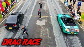 JETTA MK4 Jugueteado Stage 2 VS Mustang GT 5.0!!🤯  BRUTAL!!!