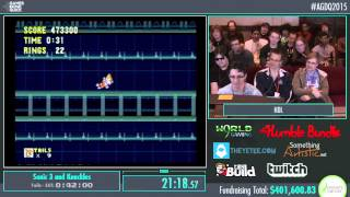 Awesome Games Done Quick 2015 - Part 92 - Sonic 3 and Knuckles by HDL