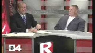 Brock Lesnar Scares the Crap out of a News Reporter