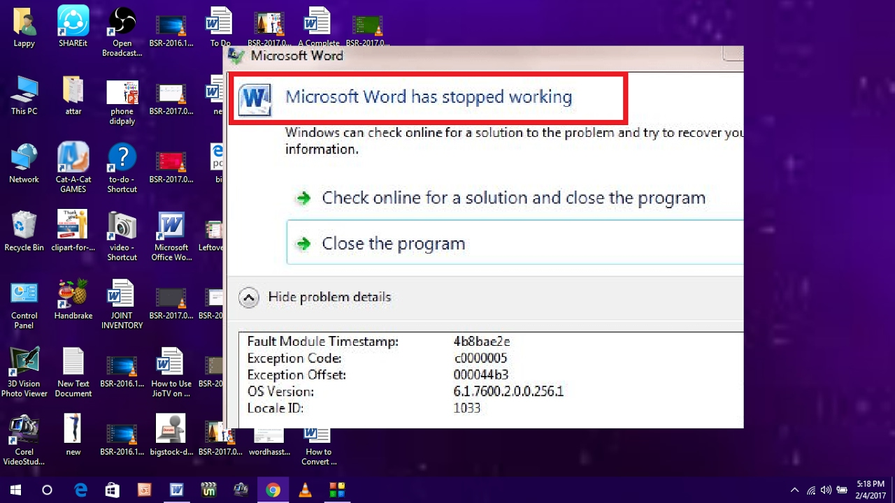 How To Fix Microsoft Word Has Stopped Working Error In Windows Pc