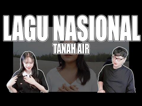 [KOREAN REAKSI] Lagu Nasional - Tanah Air ( cover ) by Alffy Rev ft Brisia jodie & Gasita Karawitan