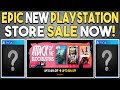 EPIC NEW Playstation Store Sale Now! INSANE PS4 Exclusives Deals!