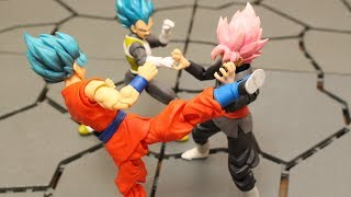 DRAGON BALL STOP MOTION  S.H.Figuarts GOKU BLACK VS SON GOKU AND VEGETA VEGETTO(VEGITO)