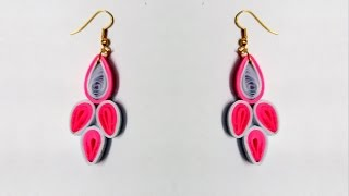 quilling paper earrings new designs - Latest Model earrings making tutorial