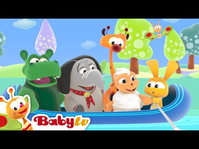 Row Your Boat 🛶  (Remastered with Lyrics) | Nursery Rhymes and Songs for kids | BabyTV