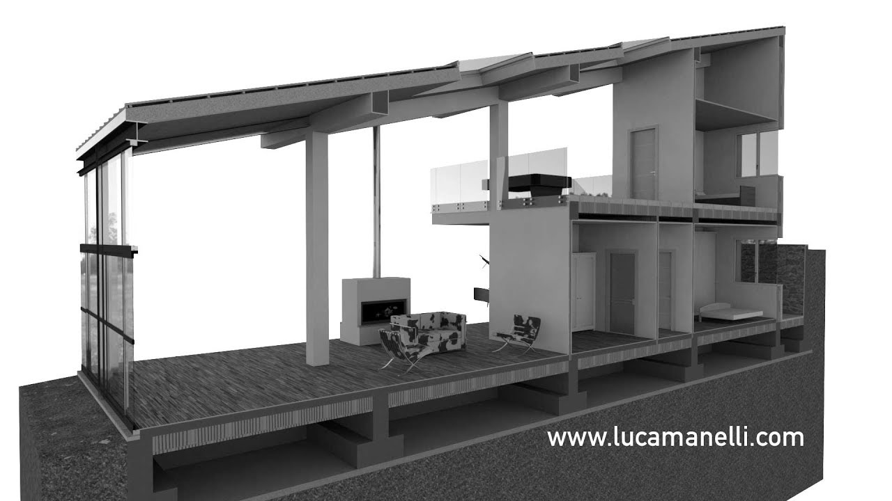 Archicad sezione 3d youtube for Progetti in 3d gratis