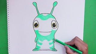 Como dibujar y pintar a Terror (Bajoterra) - How to draw and paint Terror