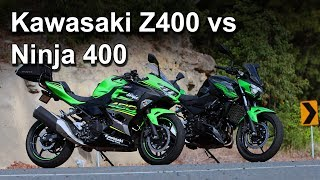 Kawasaki Z400 vs Ninja 400 - Tested & Reviewed