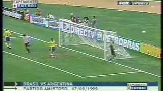 Brasil vs Argentina  amistoso 1999