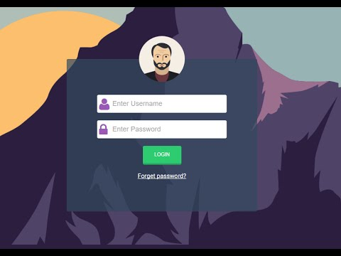 Design form login with css