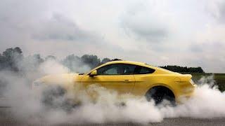 Car Club Does Burnouts at High School