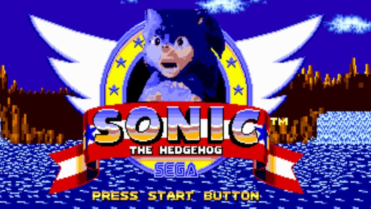 Sonic 1 Title Screen But With The Sonic Movie Design Youtube