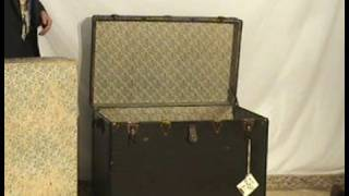 Black Steamer Trunk Mi83 Ohio's Old Wood Market