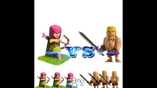 Clash of clans Battle ||Archers VS Barbarians || Verses Battle episode part 1 || ClasH Of GameplaY