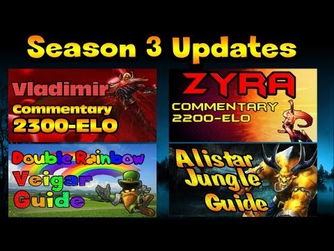 Season 3 Guide Updates For Vladimir, Zyra, Veigar  and Alistar