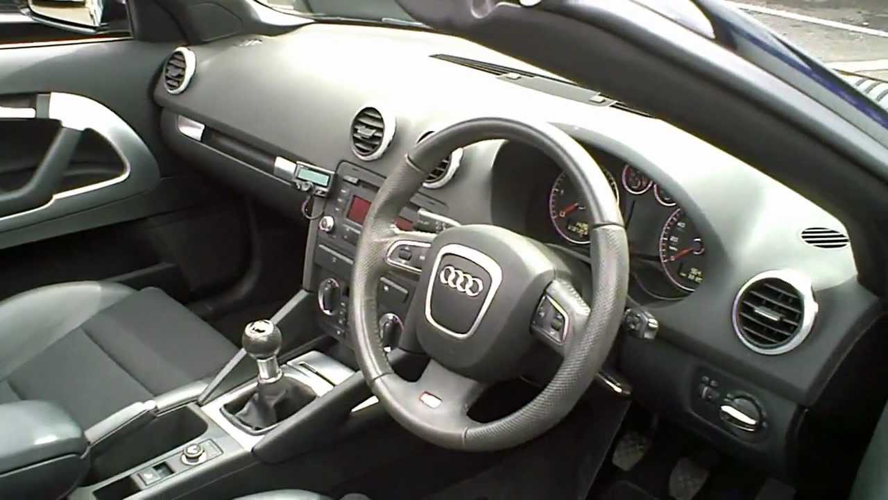 2008 58 audi a3 1 9 tdi convertible s line manual black. Black Bedroom Furniture Sets. Home Design Ideas