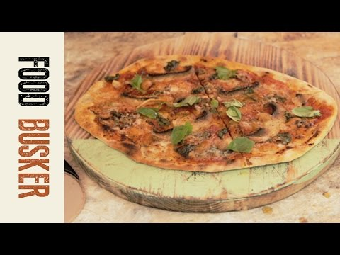 Blue Cheese and Mushroom Pizza