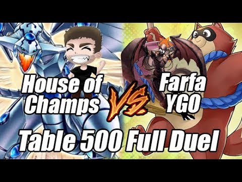 Table 500 Duels - Farfa (Racoons) Vs House Of Champs (Blue Eyes Shining) ft. Phoenix_Flare_X