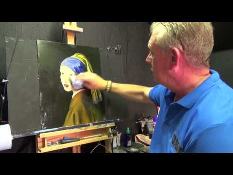 How to Age a Painting, Acrylic painting for beginners, #clive5art