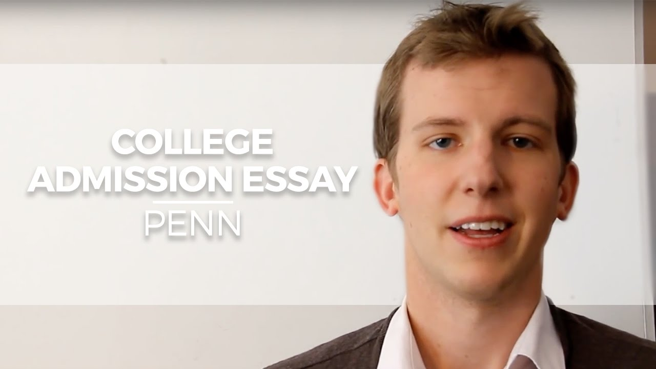 College admission essay online youtube