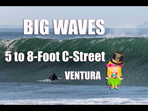 Ventura Surfers Point Big 5 To 8 Foot Waves In The New Year
