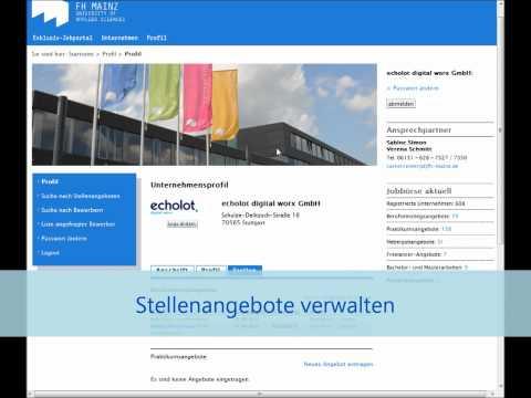 Career Center Fachhochschule Mainz - Exklusiv Jobportal basierend auf TYPO3