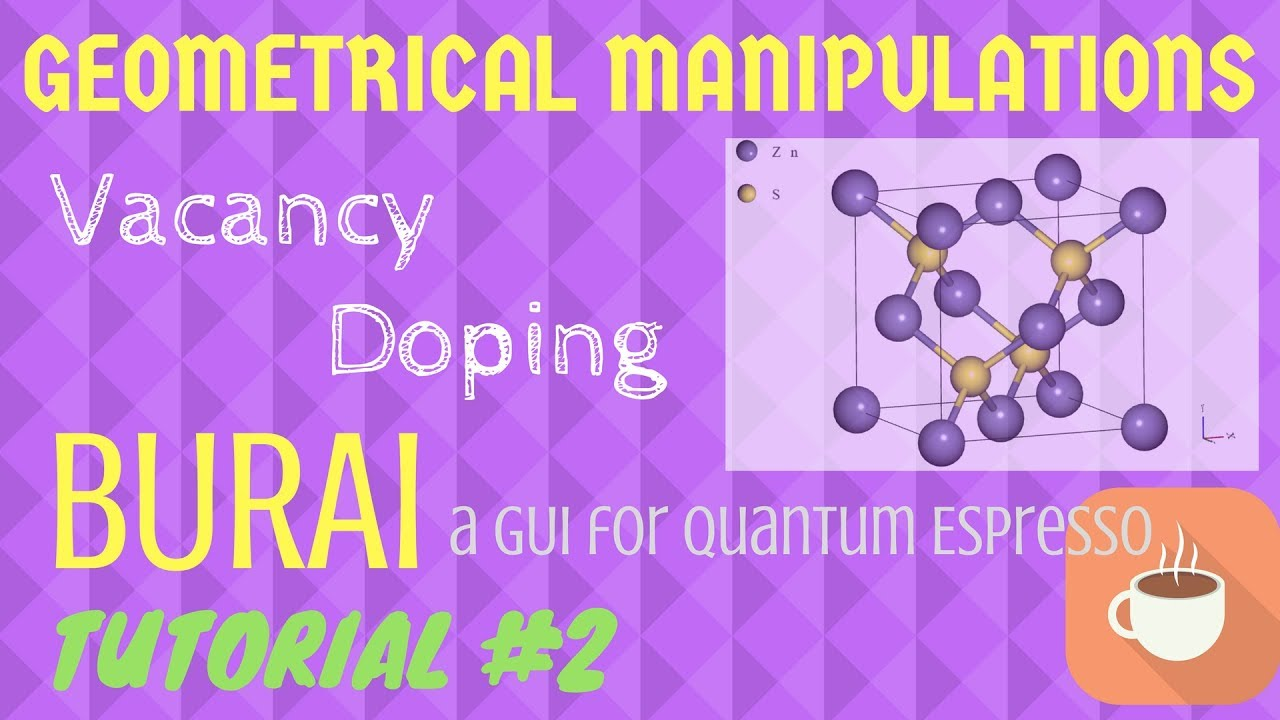 Geometrical Manipulations like VACANCY and DOPING, PSEUDOPOTENTIALS, -  BURAI TUTORIAL #2
