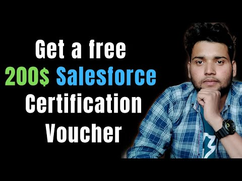 How To Get A 200$ Salesforce CERTIFICATION Voucher - 2 Simple Method