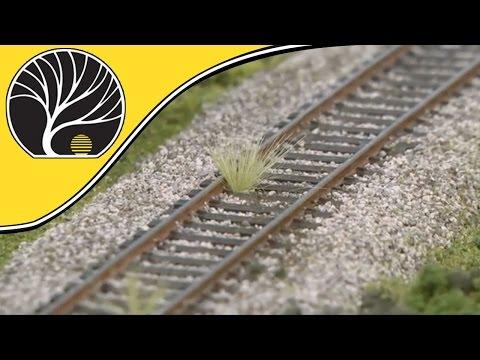 Modelling Railroad Train Scenery -How To Model Realistic Ballast – Model Scenery | Woodland Scenics