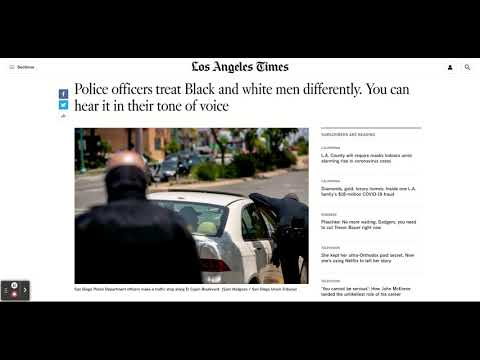Study Shows Officers Treat BM and WM Differently