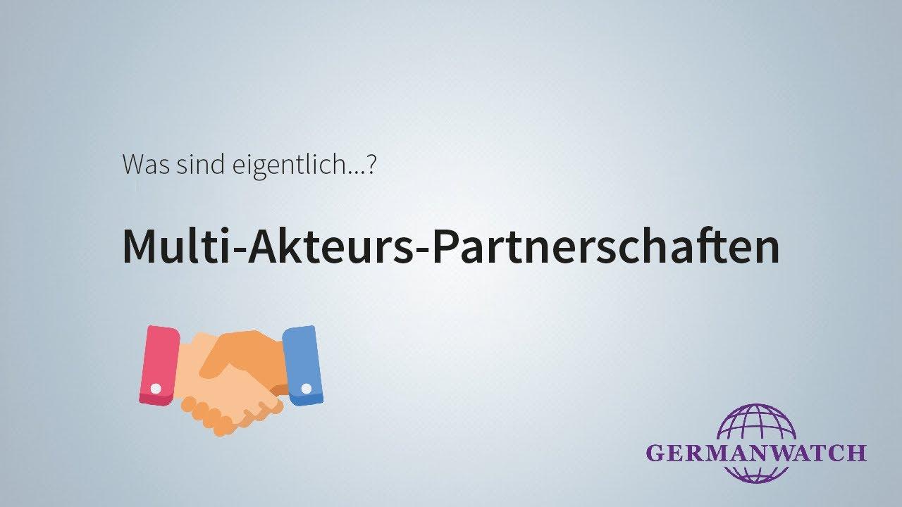 Multi-Akteurs-Partnerschaften (MAP) | Germanwatch e.V.