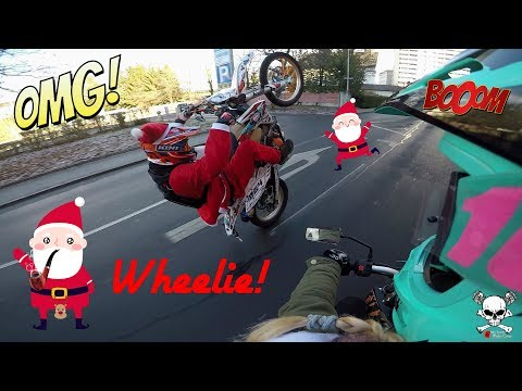EPIC CHRISTMAS-RIDE 2k17!/ KTM EXC 350 Wheelies and Moped FUN/ Illegal Ride trough City!