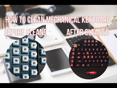 How to clean mechanical keyboard easy and fast - logitech g910 clean