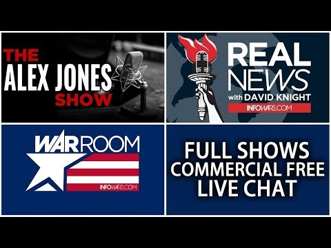 📢 Alex Jones Infowars Stream With Today's Shows Commercial Free • Monday 7/16/18