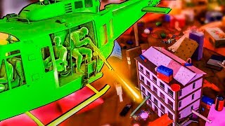 Amazing Green Army Men Helicopter Attacks The Enemy Toy House In This Toy Soldiers Game!