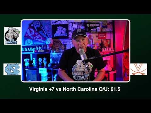 Virginia vs North Carolina Free College Football Picks and Predictions CFB Tips Saturday 10/31/20