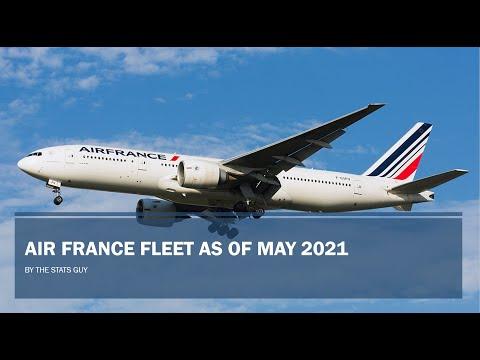 Air France Fleet as of May 2021