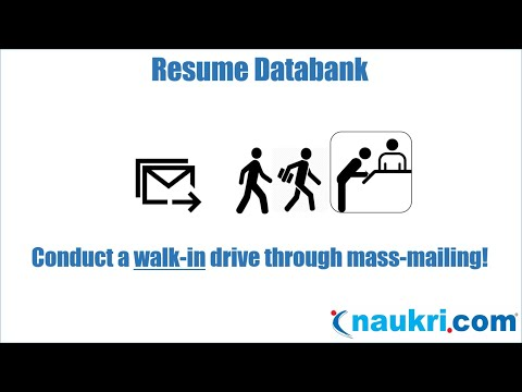 How to conduct a walk in drive through mass mailing in Naukri's database?