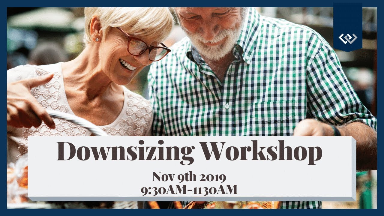 Seattle Downsizing Workshop Nov 9th @9:30AM