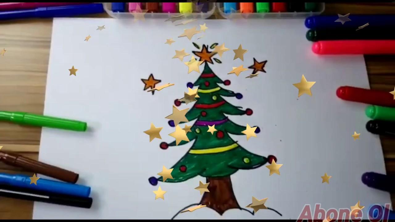 Yılbaşı Ağacı Nasıl çizilir çam Ağacı çiz Boya Youtube