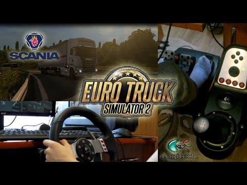 Euro Truck Simulator 2 - With Logitech G27 [Wheel/feet Camera] - Manual Transmission - Scania R420