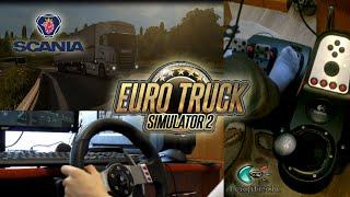Євро вантажівка симулятор 2 - з Logitech G27 [колесо/камеру футів] - механічна коробка передач - Сканія R420