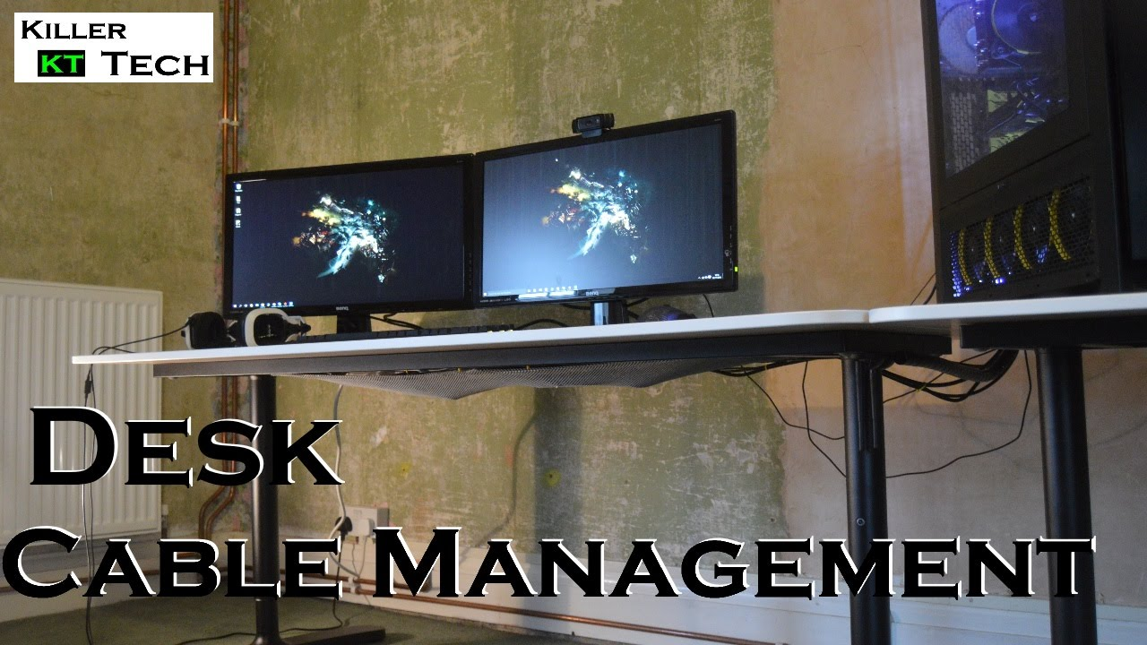 Desk Cable Management Tips and Tricks  YouTube