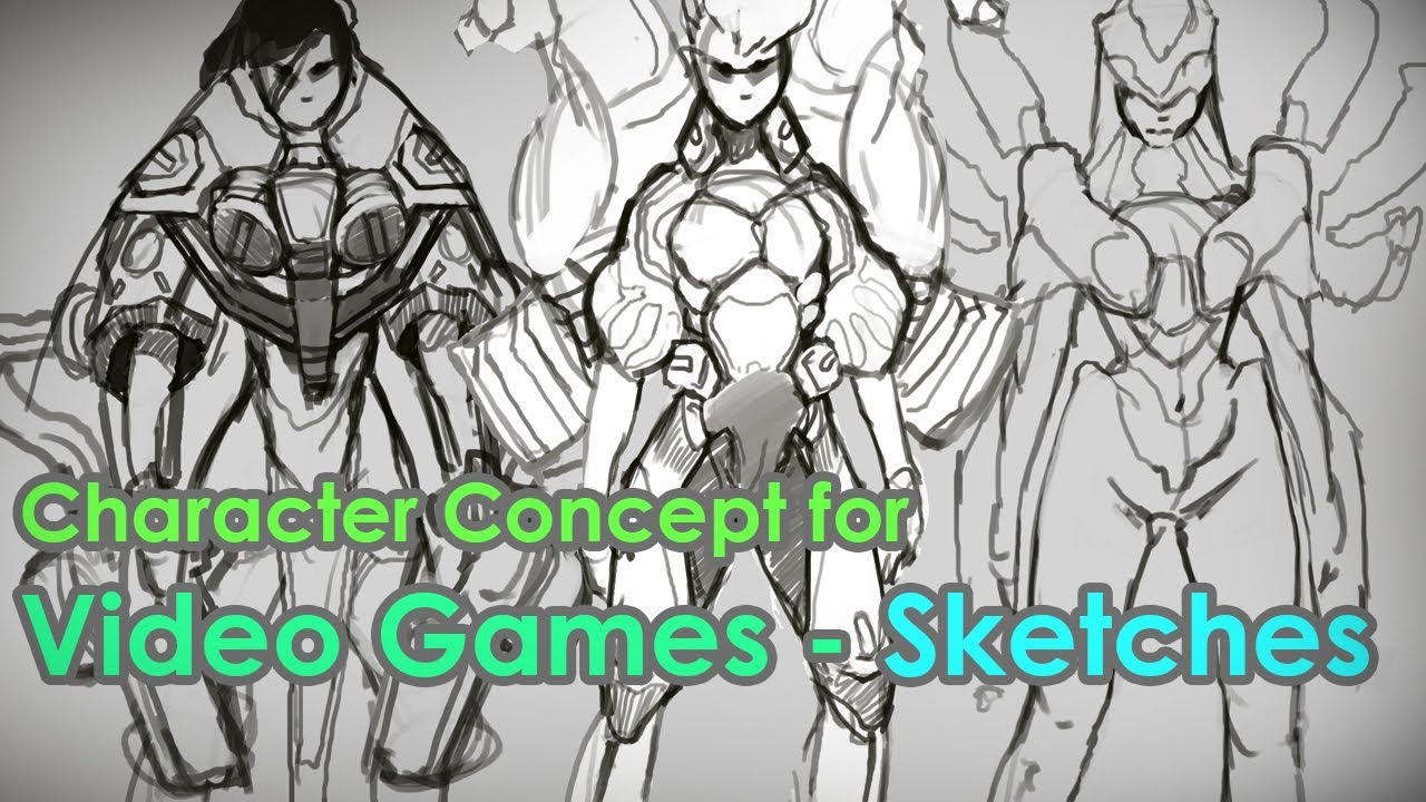 Character Designer Salary : Character design for video games sketches full chapter