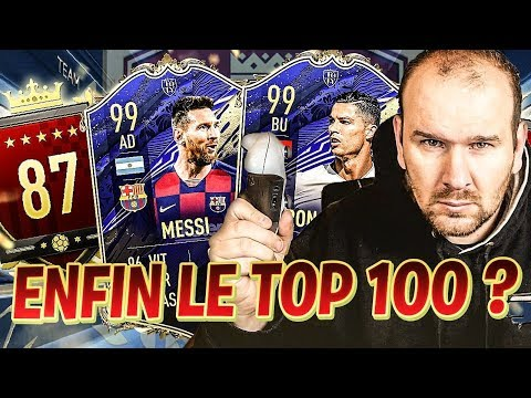 MON 1ER TOP 100 GRACE A CR7 TOTY ET MESSI TOTY ? FIFA 20