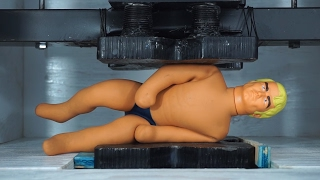 Stretch Armstrong Crushed In A Hydraulic Press