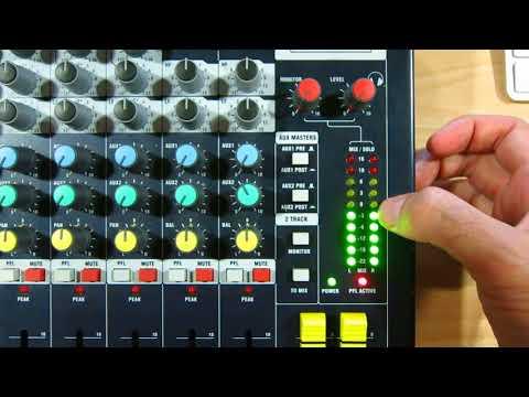 MESA MEZCLAS - Nivel de audio profesional +4 dBu y equivalencia en la escala analógica: 0 dB o +4 dB