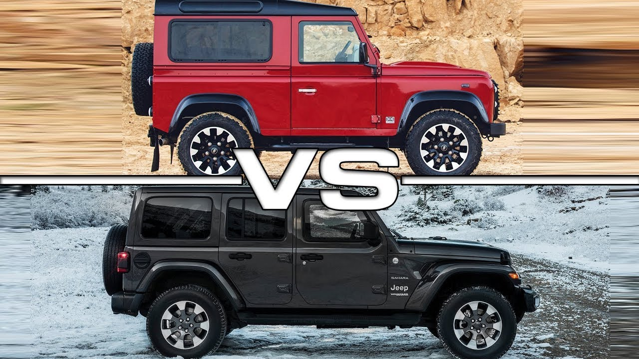 2019 Land Rover Defender Vs 2018 Jeep Wrangler Youtube